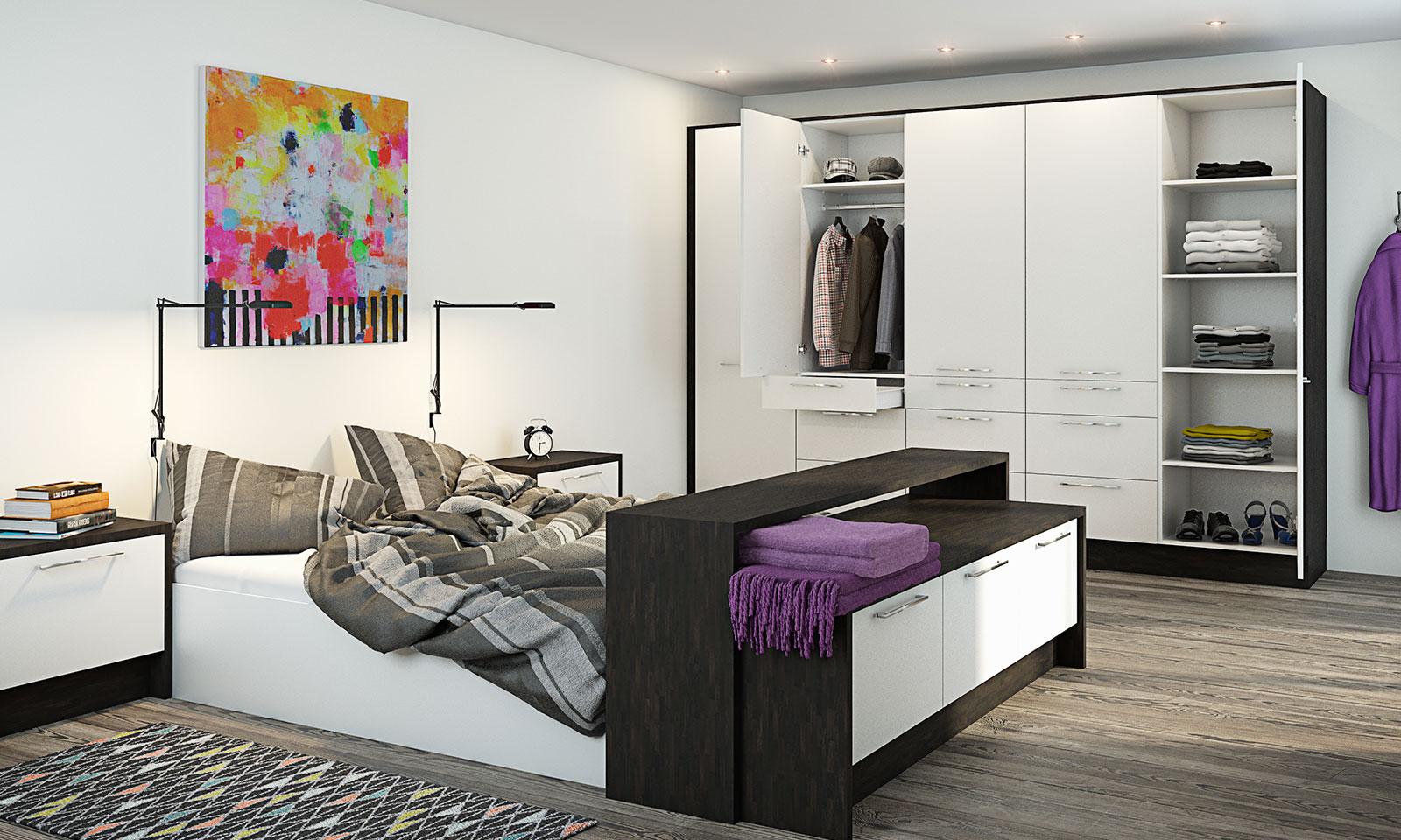Garderobe soverom - Dusjkabinett med badekar for barn